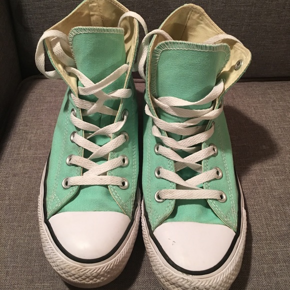 Converse Shoes   Tiffany Blue High Top